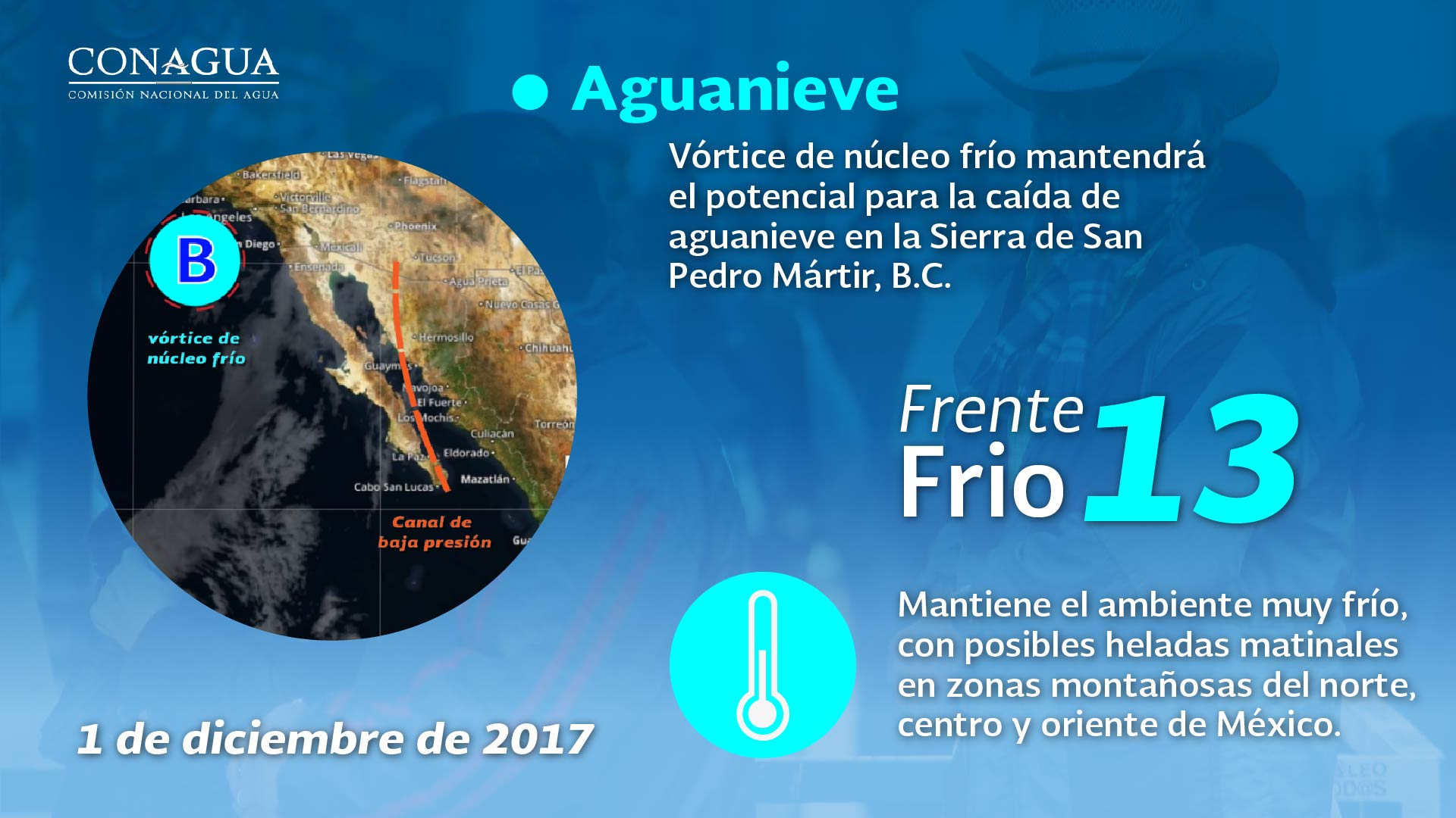 Se registran heladas y se prevé que continuará el ambiente muy frío por la mañana para Tlaxcala