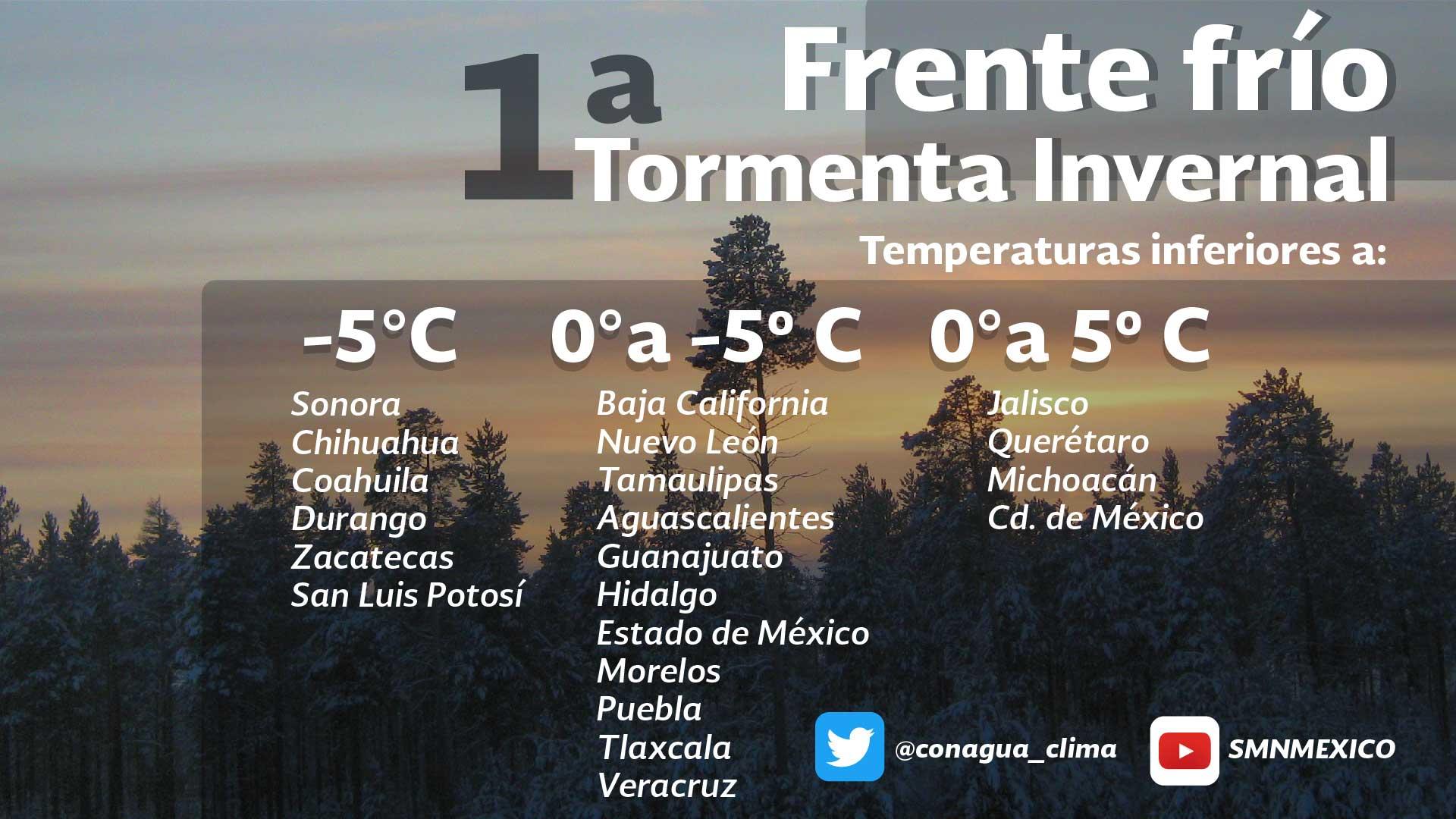 Se prevé ambiente muy frío y caída de nieve o aguanieve en zonas montañosas de Tlaxcala