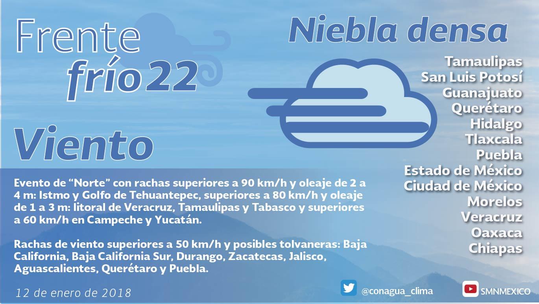 Se prevé marcado descenso en las temperaturas para Tlaxcala