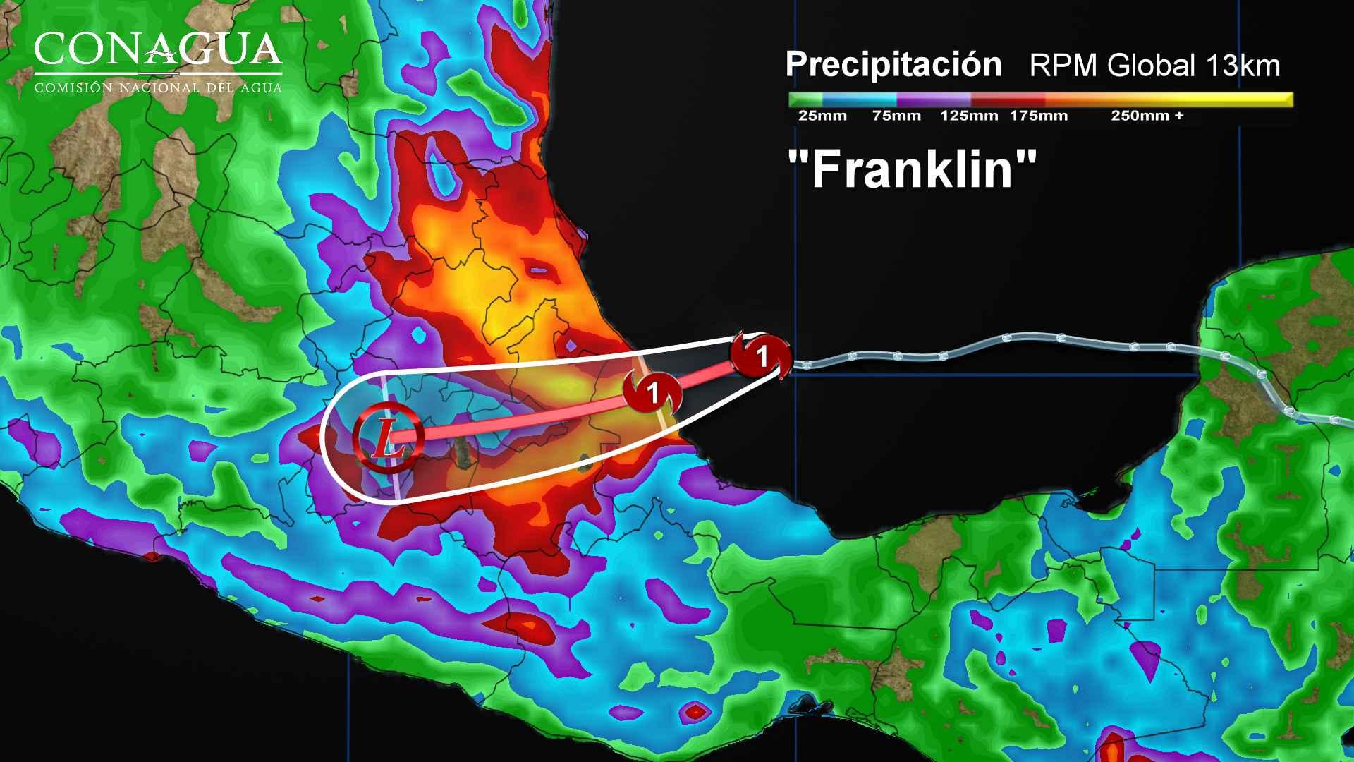 Franklin impactará en las próximas horas en Veracruz