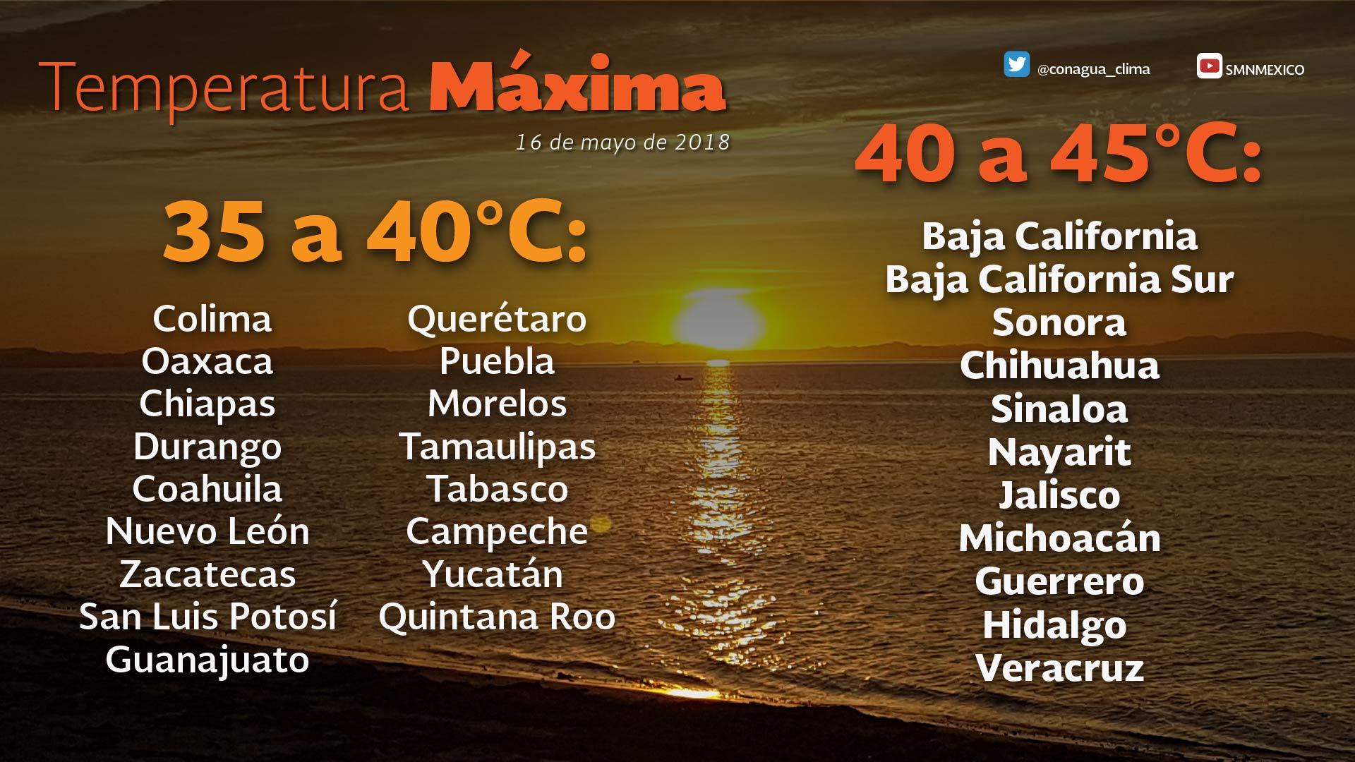 Se prevén ambiente cálido y lluvias aisladas para Tlaxcala
