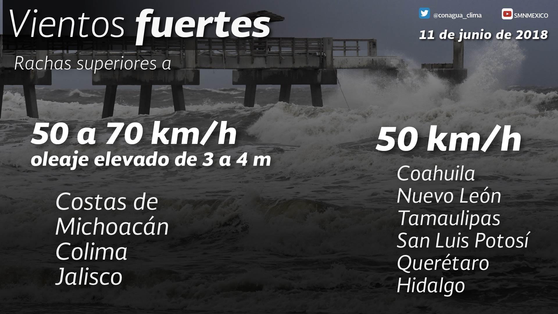 El huracán Bud de categoría 3 en la escala de Saffir Simpson, se desplaza paralelo a la costa del Pacífico