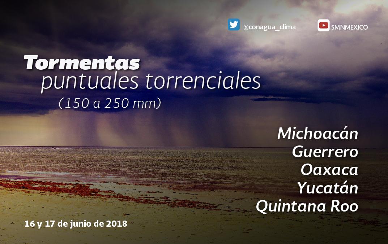 La depresión tropical Carlotta mantiene el potencial de tormentas intensas