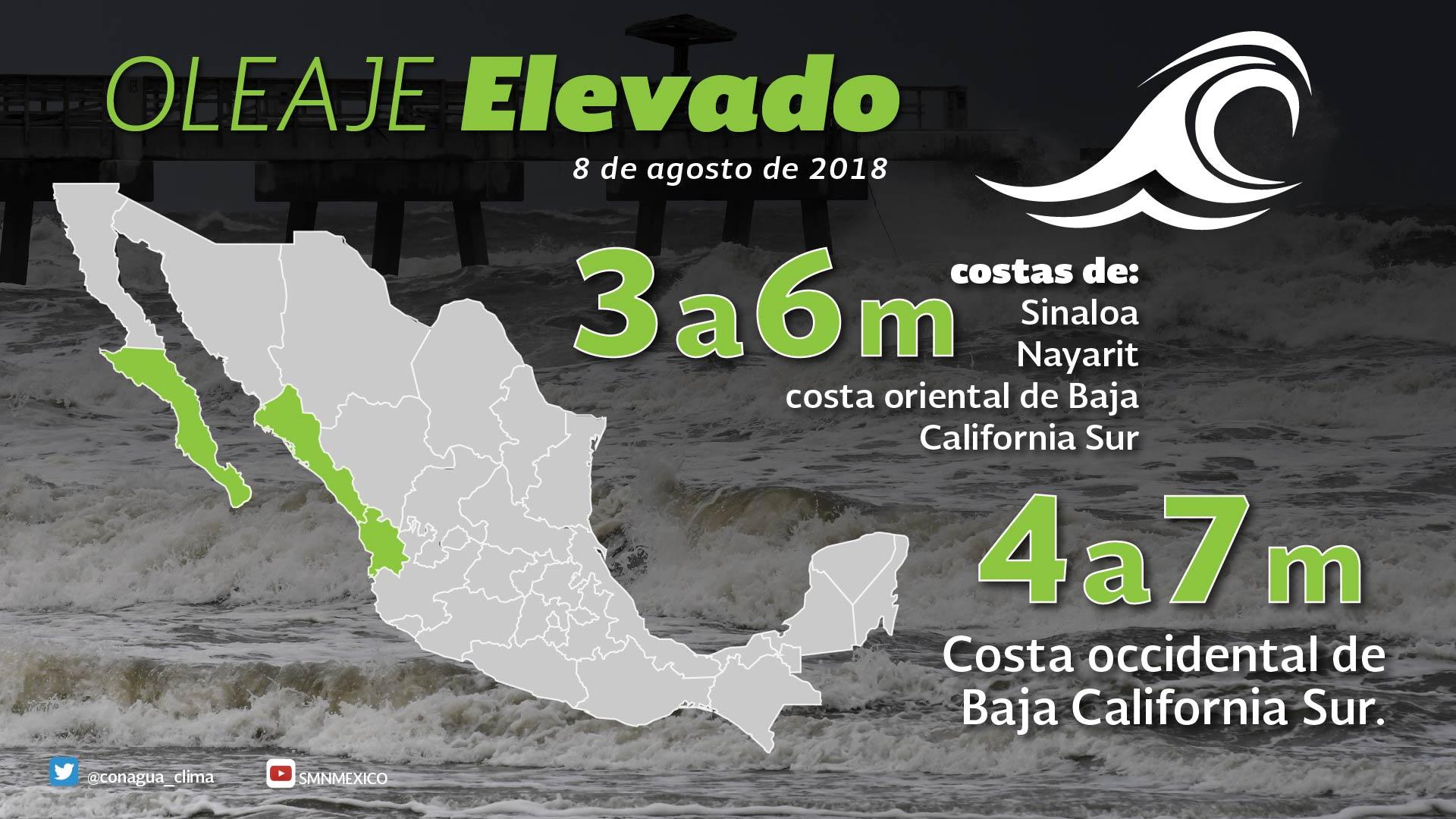 John mantendrá el potencial de tormentas puntuales intensas en Baja California Sur