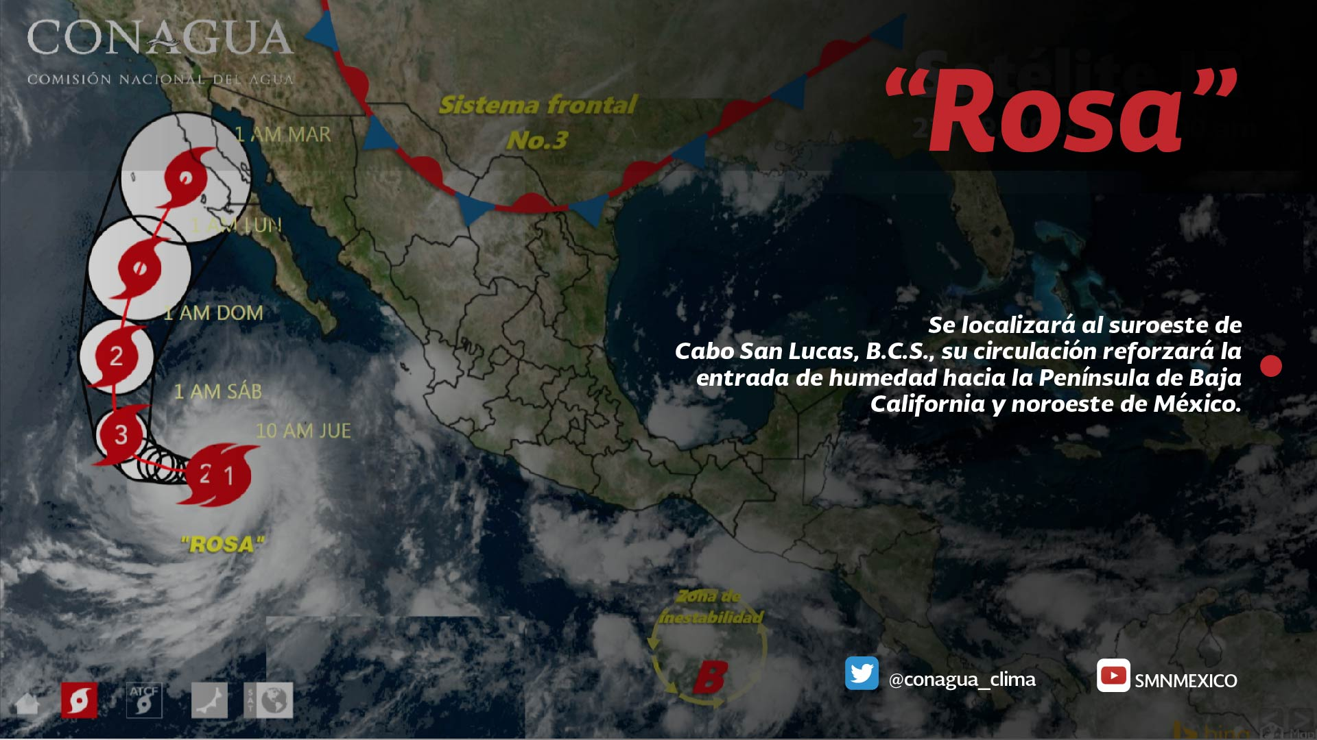 Durante las próximas horas se prevén tormentas intensas en México