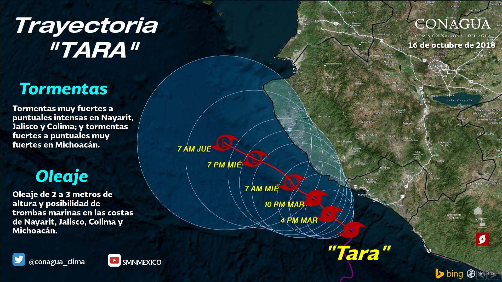 Tara se degradó a depresión tropical