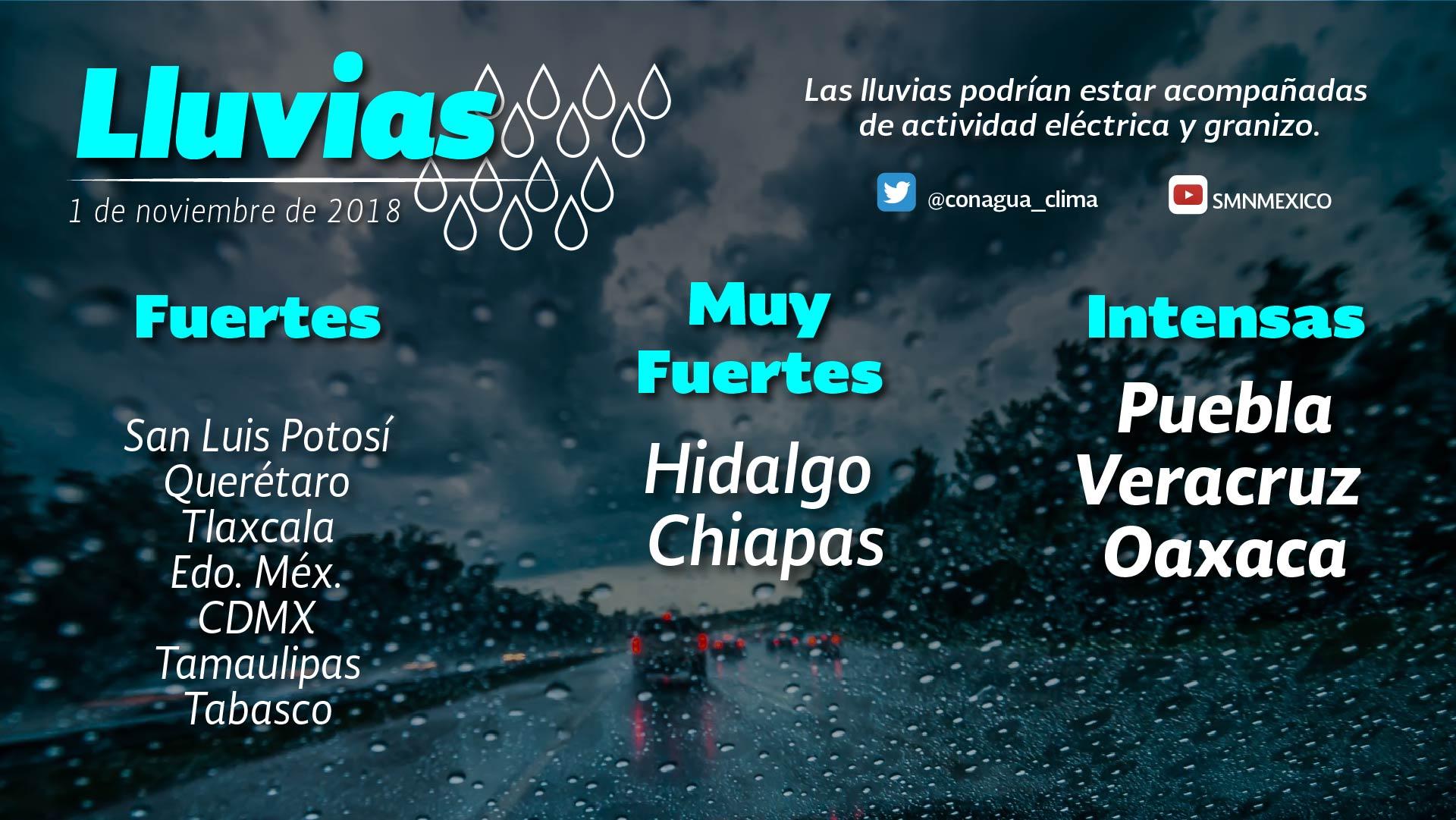 Se prevén tormentas puntuales fuertes para Tlaxcala