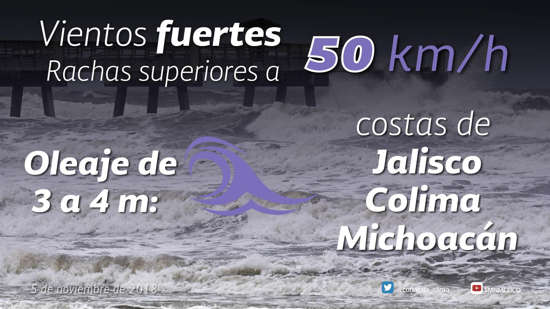 Xavier generará vientos de 50 km/h en las costas de Jalisco, Colima y Michoacán
