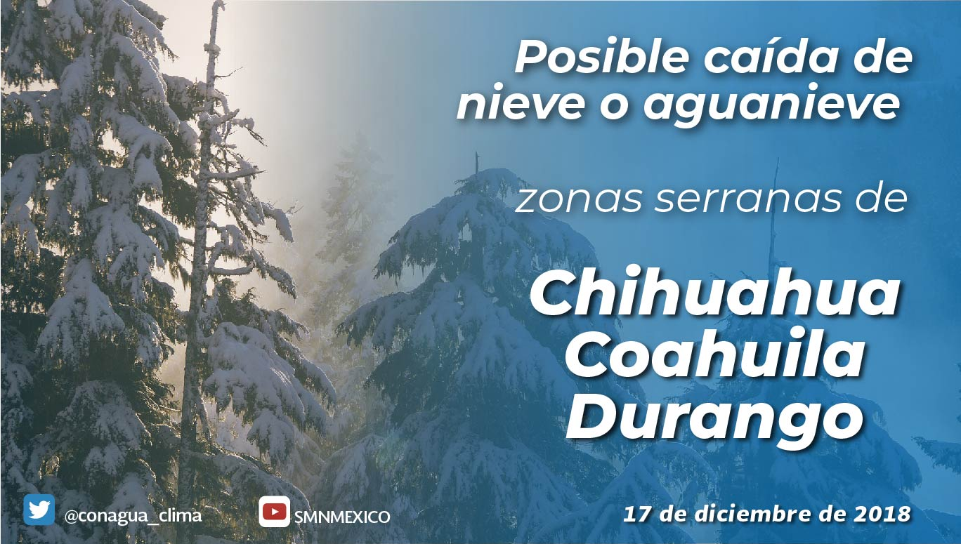 Se prevén bancos de niebla y heladas en las primeras horas del día para Tlaxcala