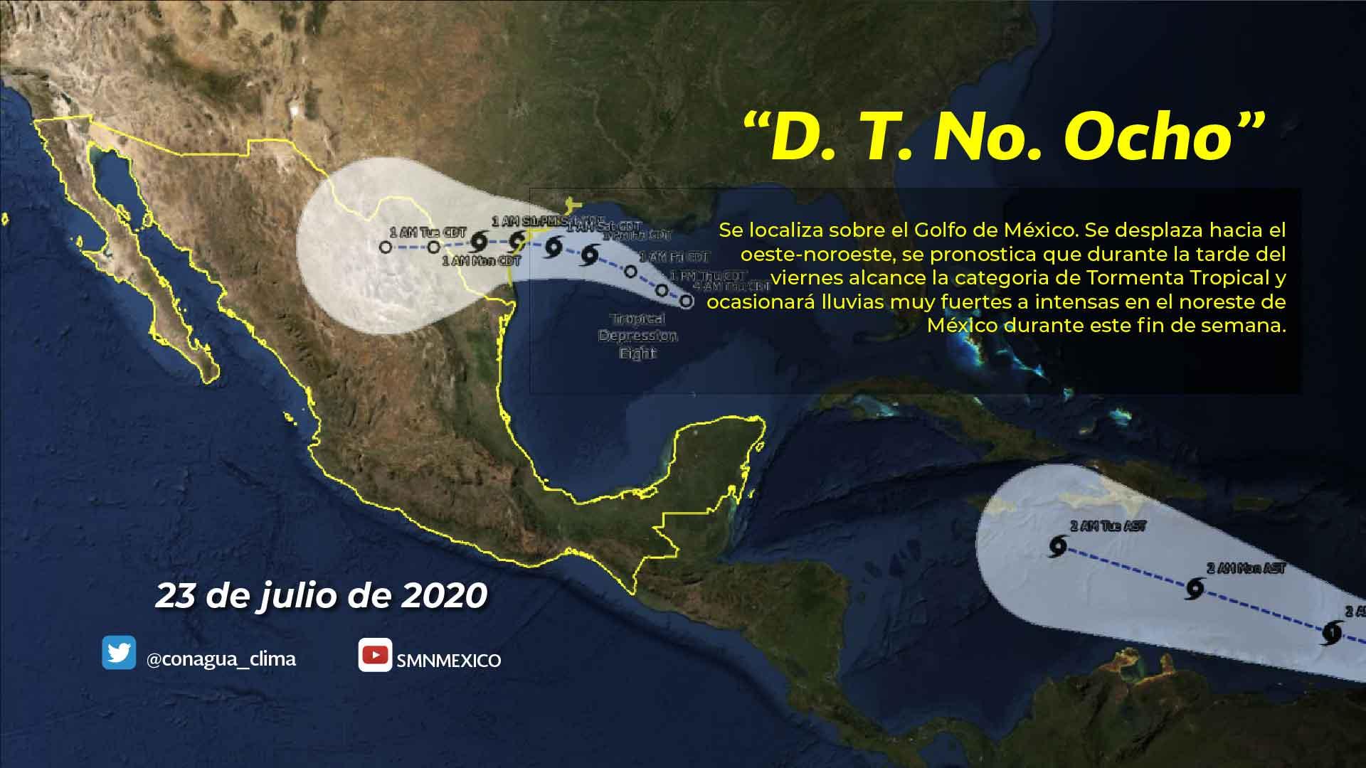 Se pronostican lluvias intensas con descargas eléctricas para Chiapas, Colima, Jalisco, Michoacán, Oaxaca y Puebla
