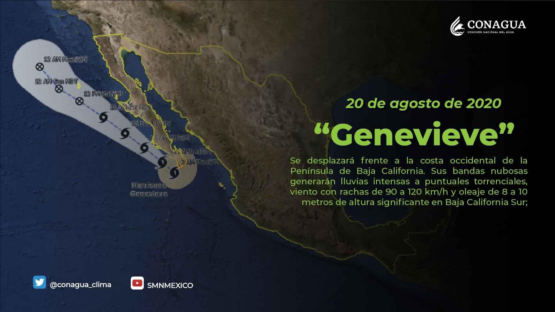 Genevieve mantendrá lluvias durante el resto del día en Tlaxcala