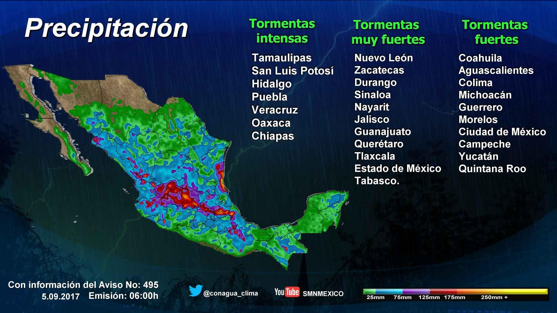 Se pronostican tormentas muy fuertes para Tlaxcala