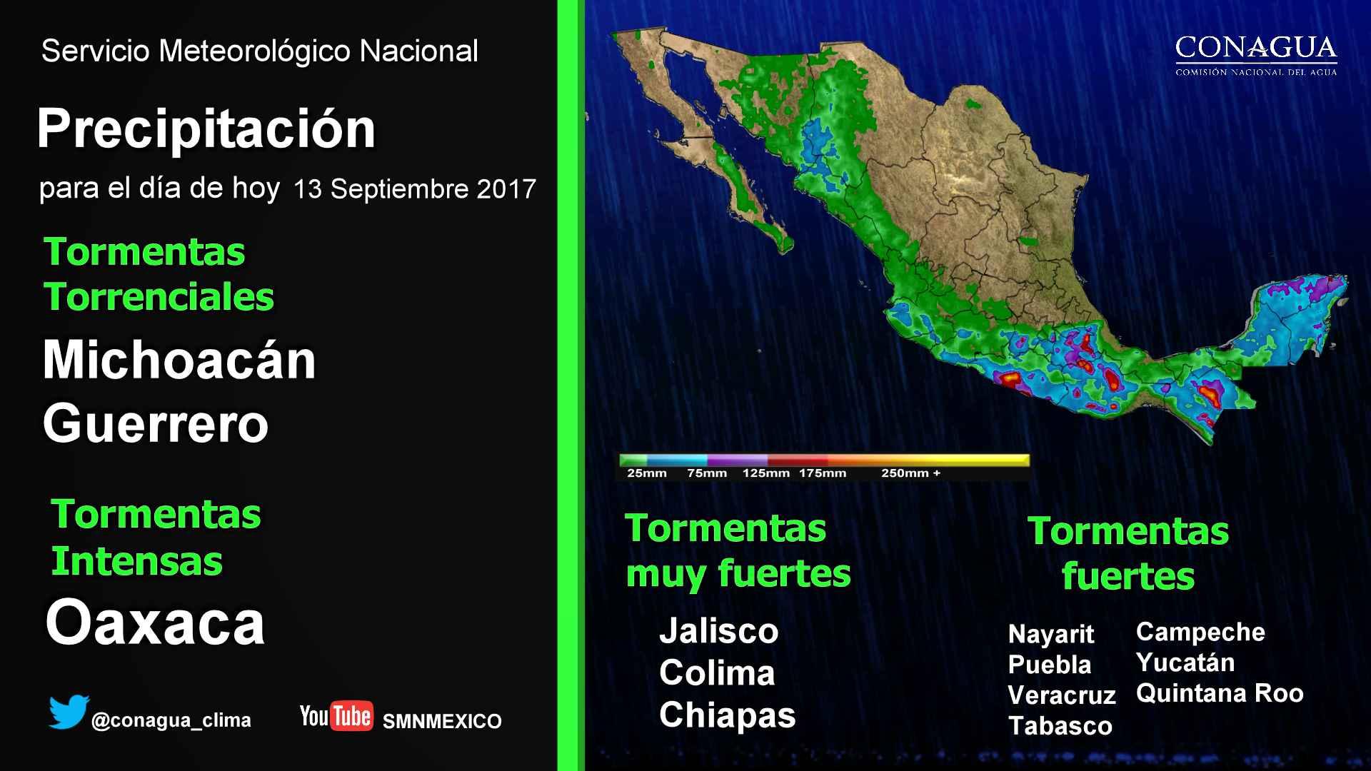 Se prevén lluvias con intervalos de chubascos y heladas para Tlaxcala
