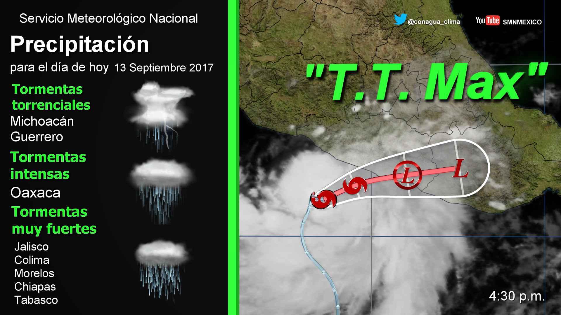Se desarrolló la tormenta tropical Max al sur de Guerrero
