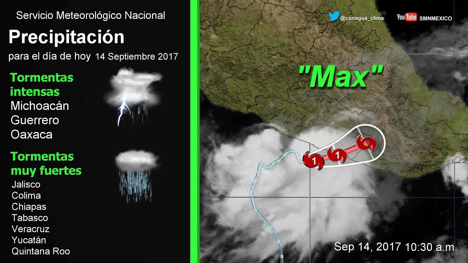 Prevalece el pronóstico de lluvias con intervalos de chubascos y heladas para Tlaxcala