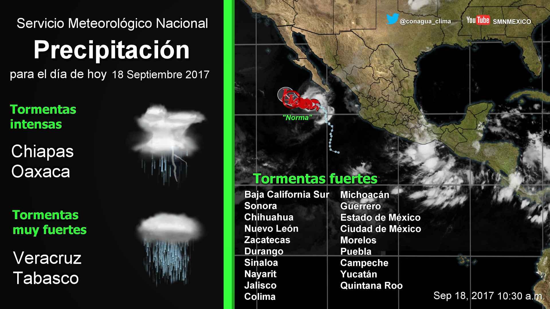 Se prevén para Tlaxcala lluvias con intervalos de chubascos