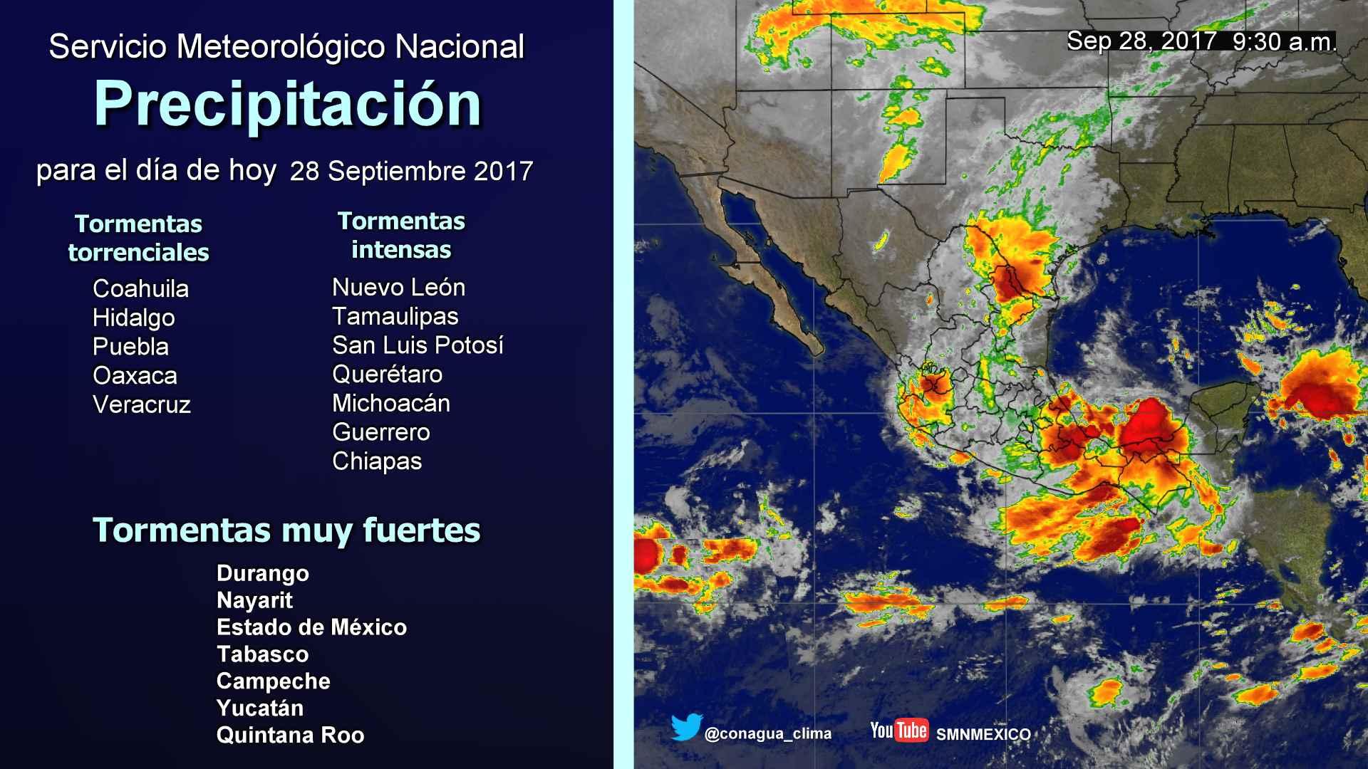 Tormentas fuertes se prevén para Tlaxcala