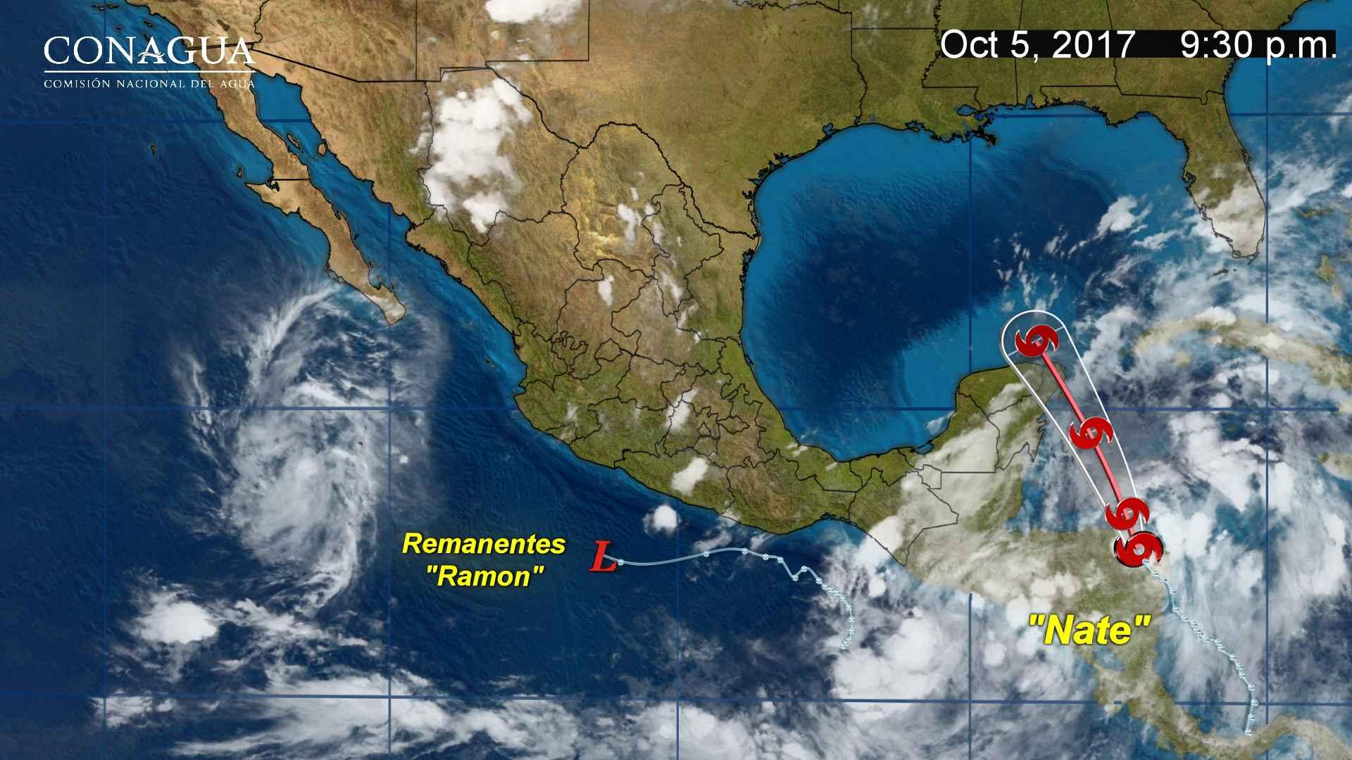 Mañana la tormenta tropical Nate se aproximará a las costas de Quintana Roo y Yucatán