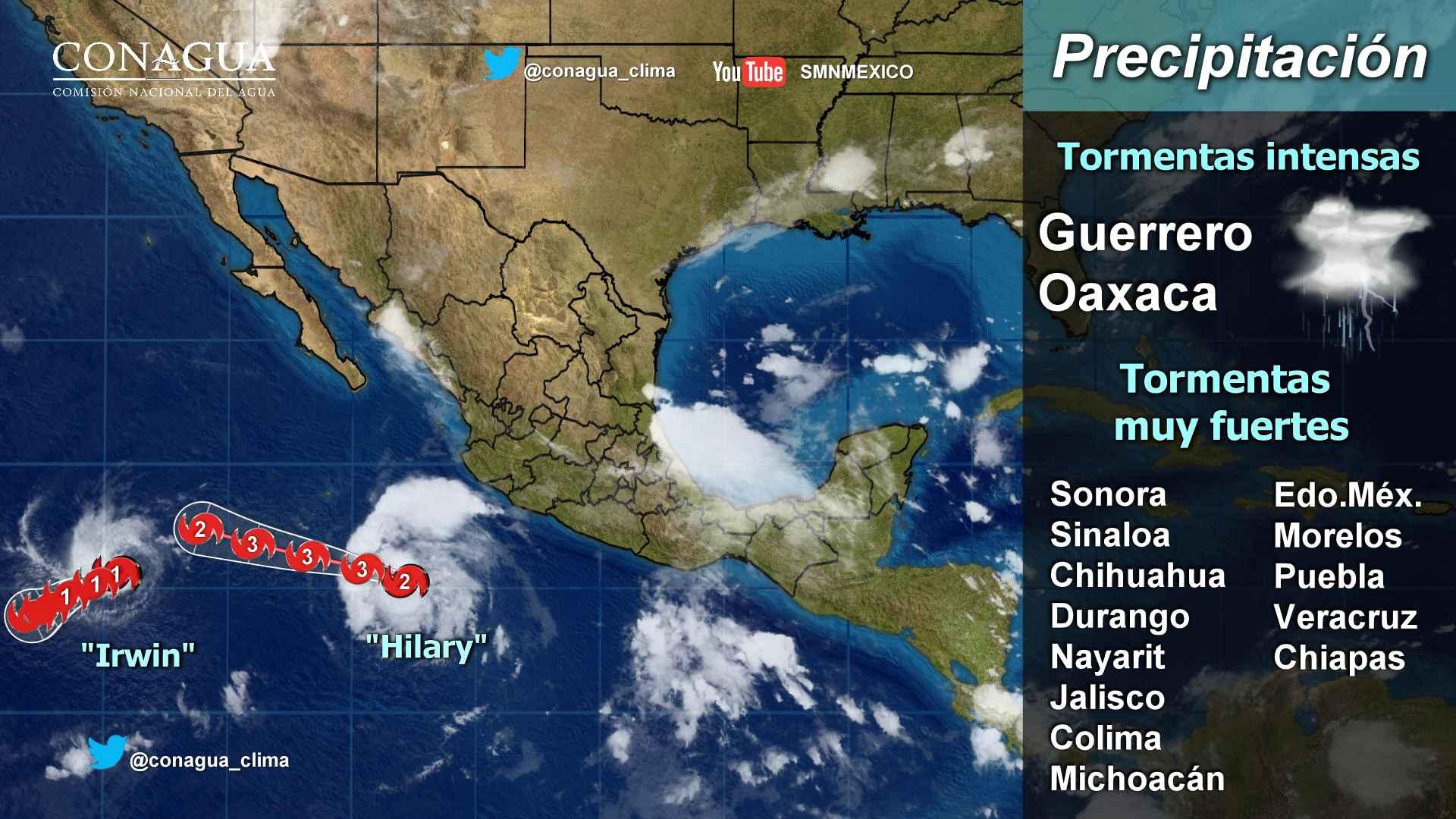 Lluvias fuertes se prevén hoy para Tlaxcala