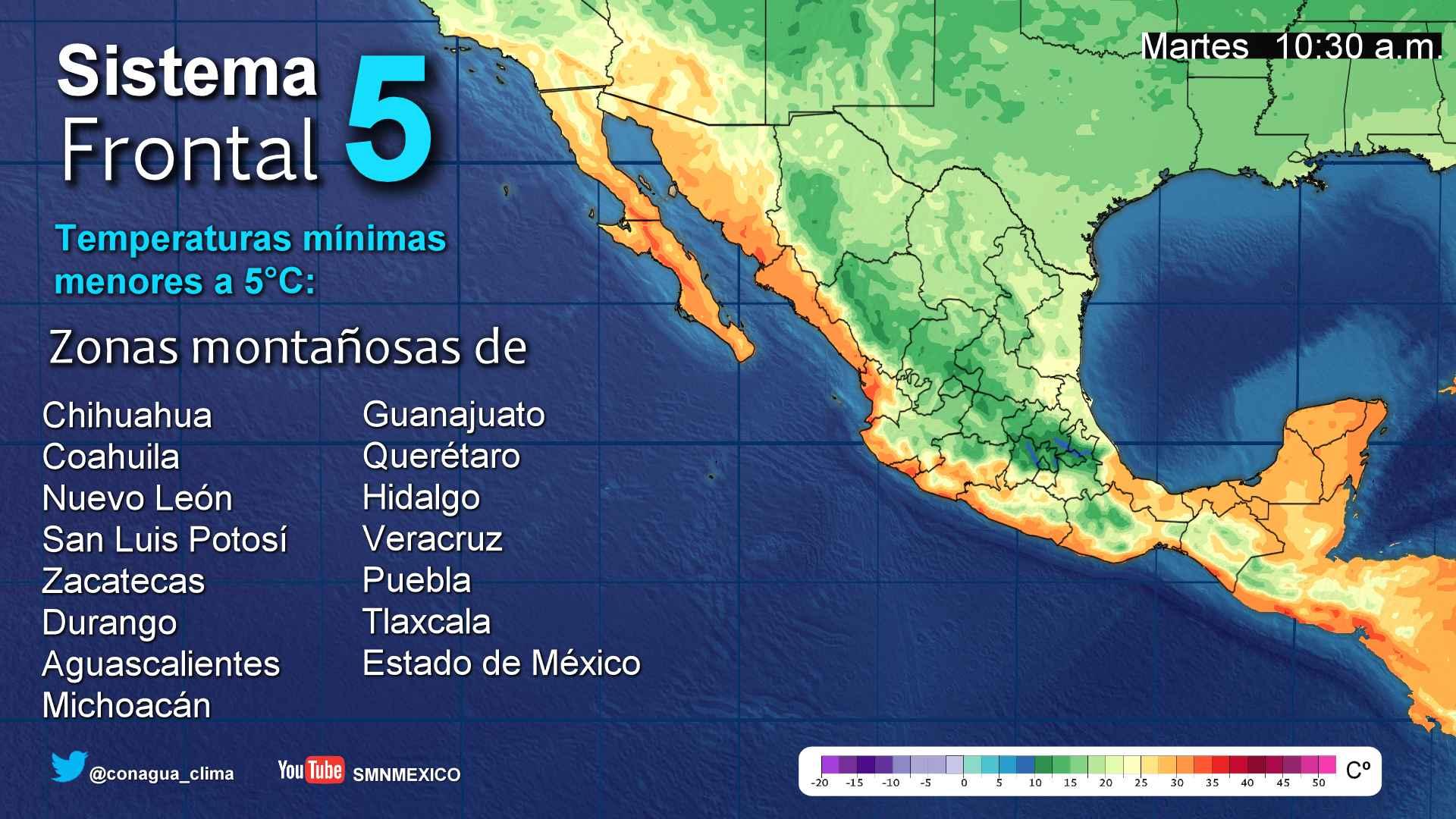 Se prevén lluvias dispersas para Tlaxcala