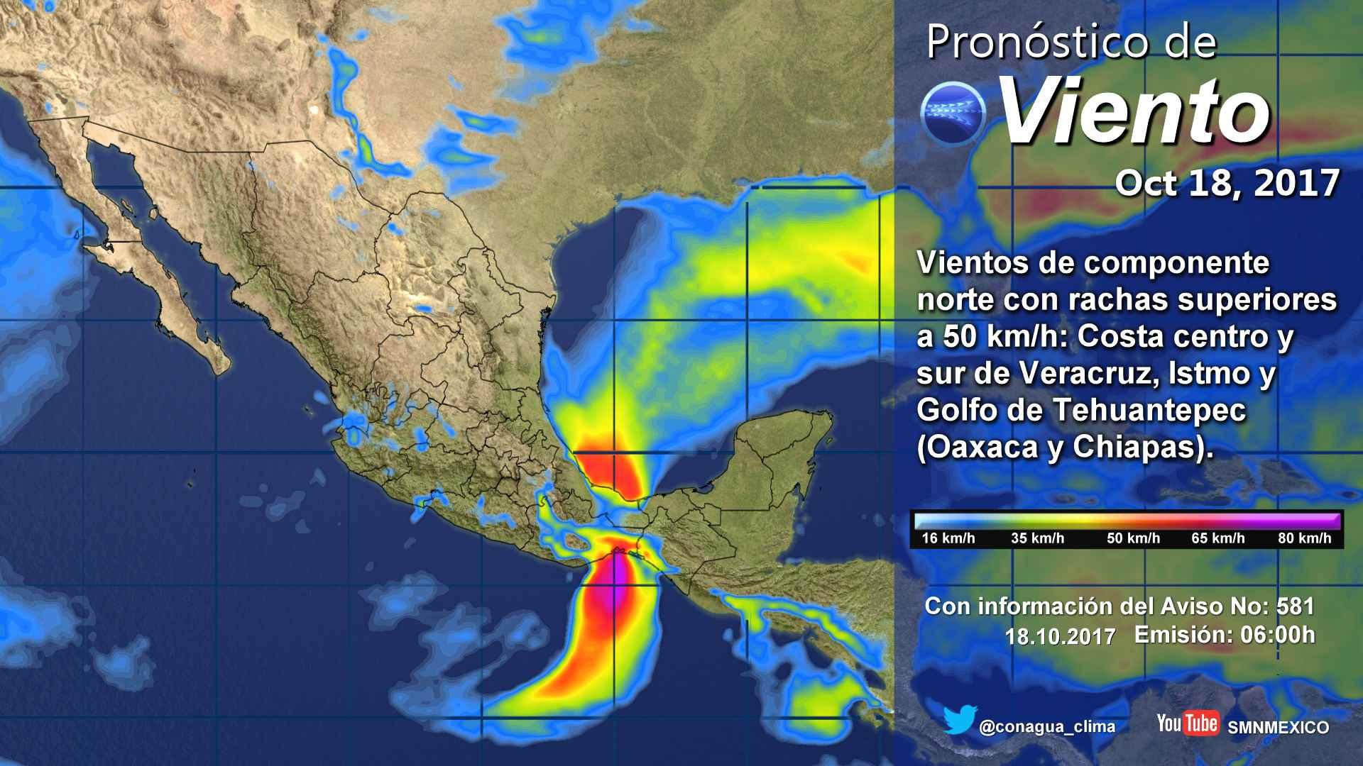 Continúa el pronóstico de lluvias dispersas para Tlaxcala