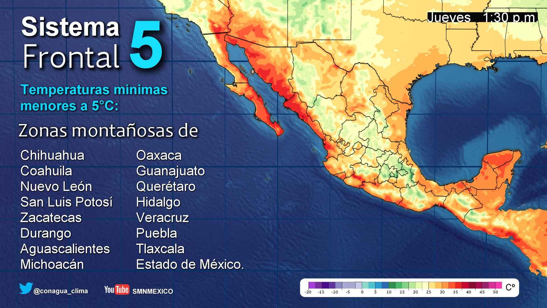 Se prevén tormentas en el sur de Veracruz e intensas en Tabasco y Chiapas