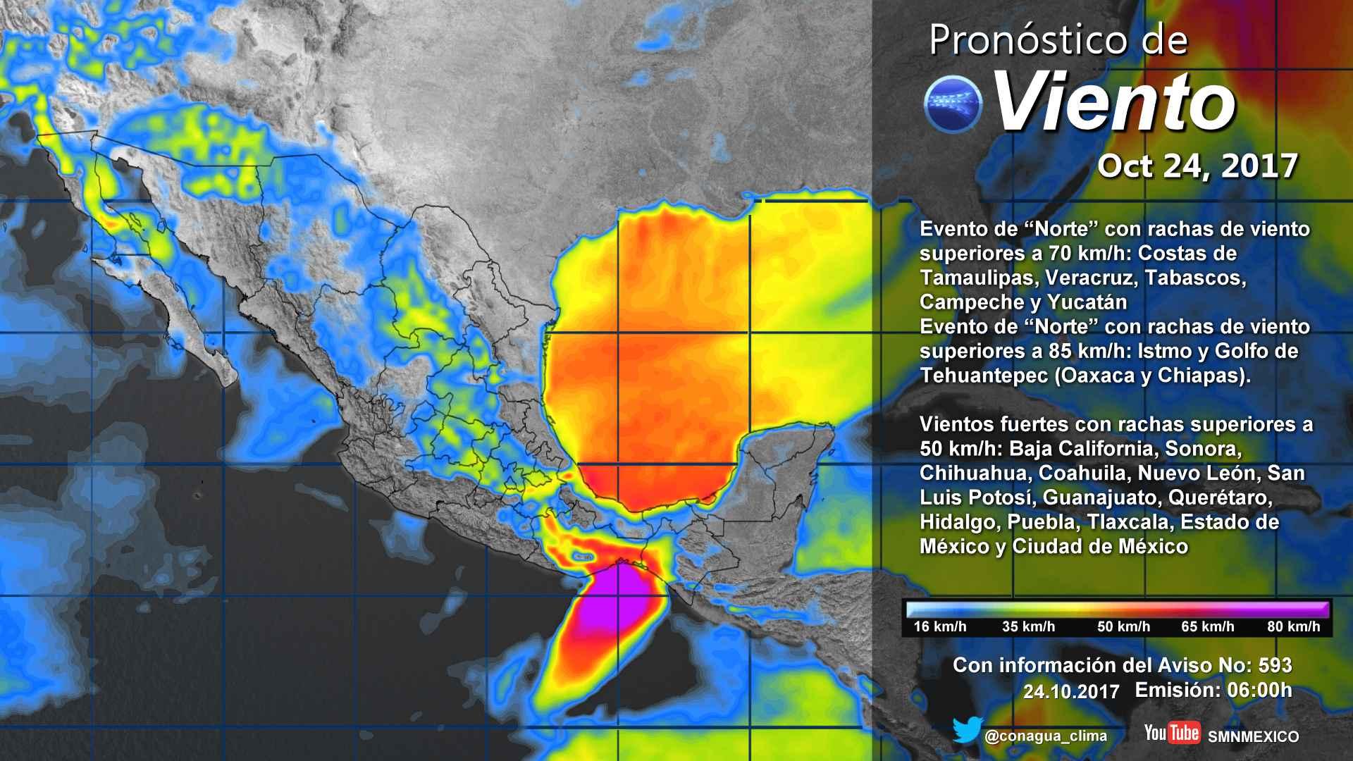 Se prevén lluvias dispersas, viento y descenso de temperaturas para Tlaxcala