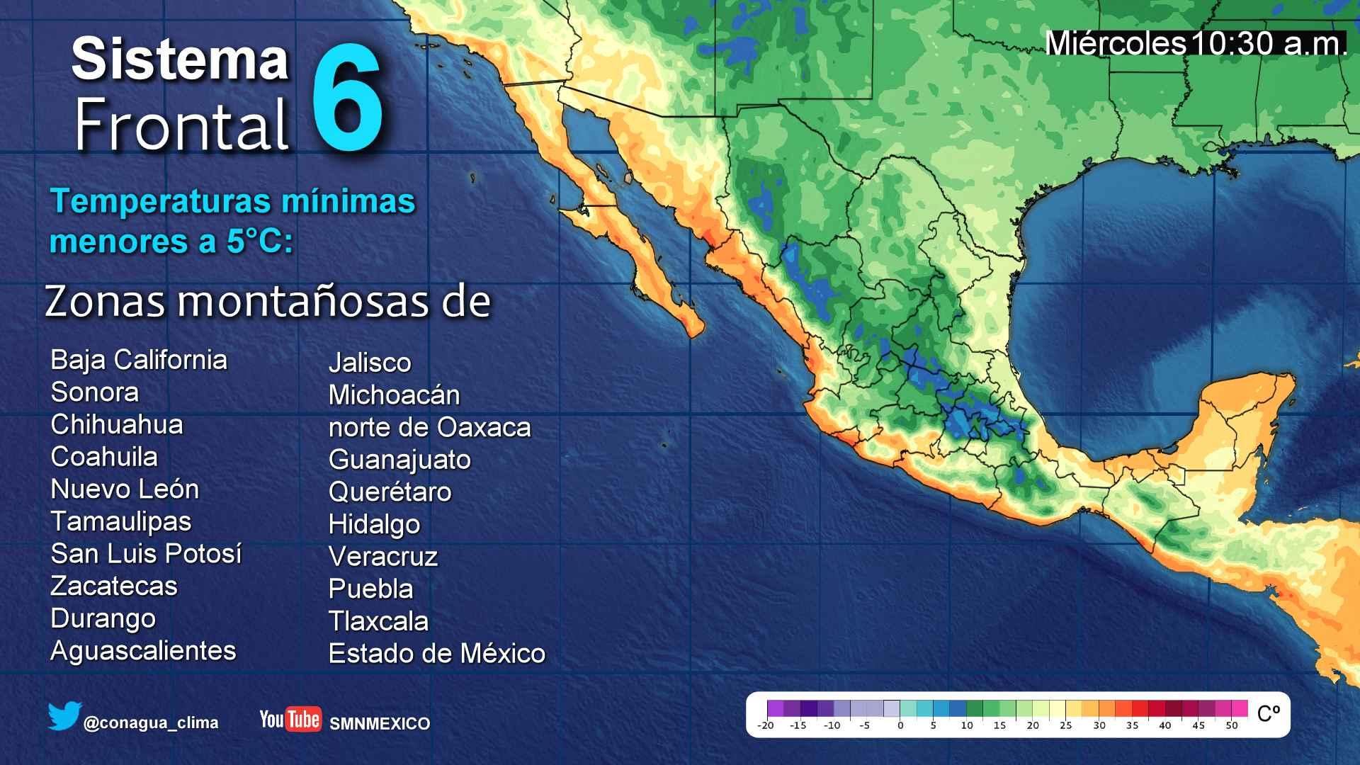 Se mantiene el pronóstico de lluvias dispersas, viento y descenso de temperaturas para Tlaxcala
