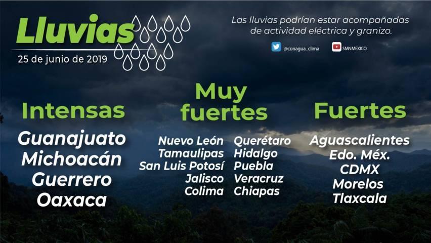 Para hoy se pronostican lluvias fuertes en Tlaxcala