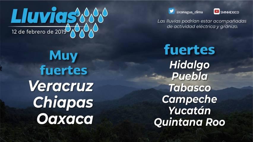 Se esperan lluvias aisladas durante el día en Tlaxcala