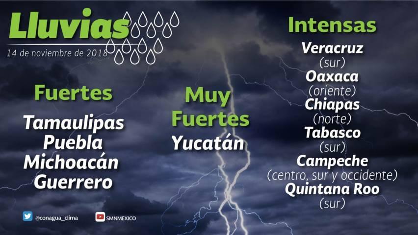 Se prevén lluvias con intervalos de chubascos y marcado descenso de temperatura para Tlaxcala