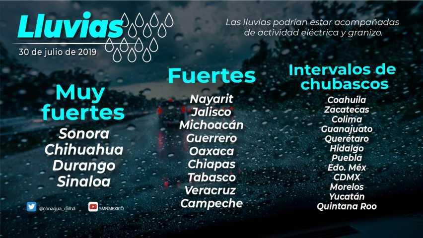 Se prevén lluvias aisladas en Tlaxcala