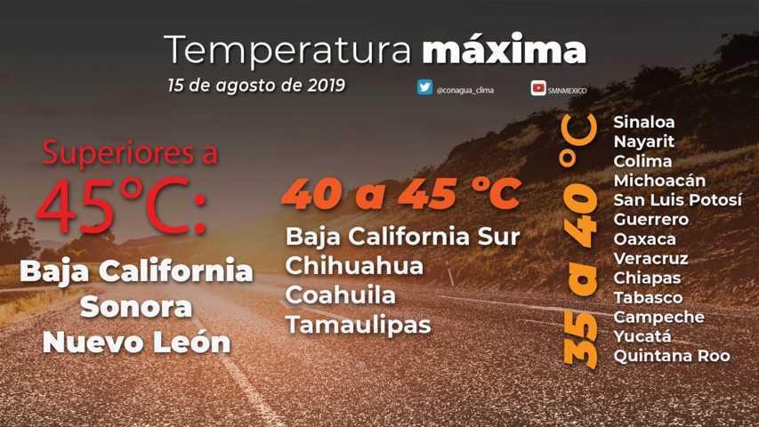 Para el día de hoy se pronostican lluvias aisladas en Tlaxcala