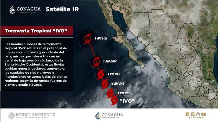 Para hoy se pronostican intervalos de chubascos con lluvias puntuales fuertes en Tlaxcala