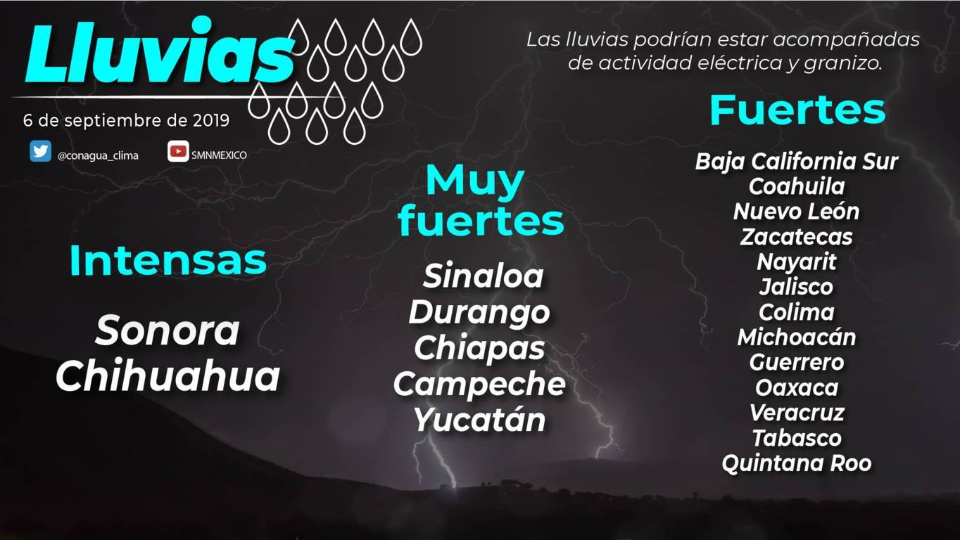 Hoy se prevén lluvias aisladas para Tlaxcala