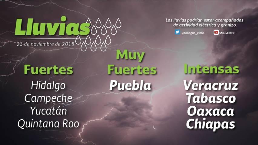 Se prevén lluvias con intervalos de chubascos y descenso de temperatura para Tlaxcala