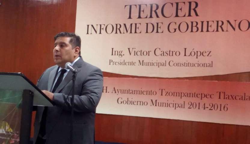 Rindió Castro López Tercer Informe de gobierno municipal