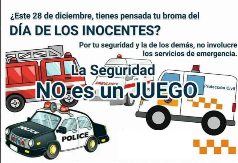 Piden no hacer bromas a los servicios de emergencia por