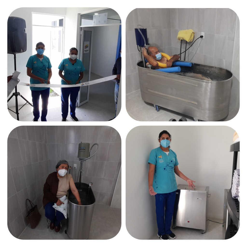 Entregan equipamiento de hidroterapia en la UBR de Tetla de la Solidaridad