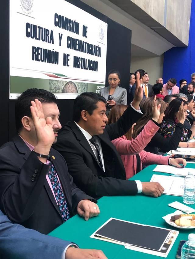 Rubén Terán en la Comisión de Cultura de la Cámara de Diputados Federal