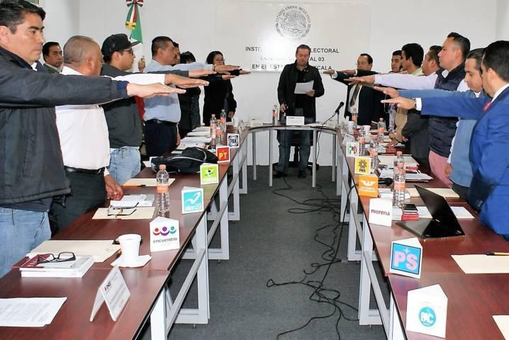Se instalan los tres consejos distritales del INE en Tlaxcala