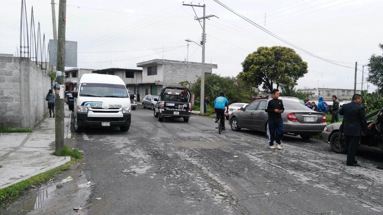 En Chiautempan transportistas se acusan de invadir rutas