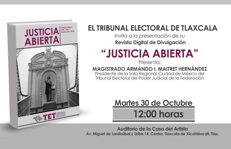 """Presentará TET su revista digital """"Justicia Abierta""""; divulgará trabajos en materia electoral"""