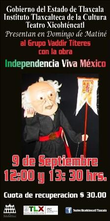 Presentan cartelera cultural de septiembre del Teatro Xicohténcatl