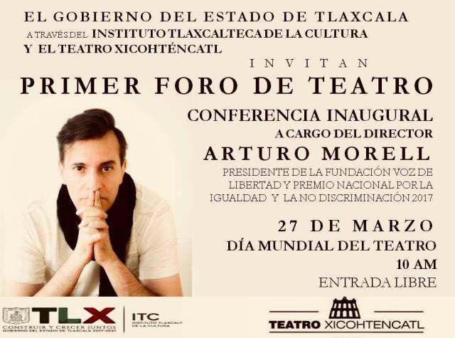 Invitan al Primer Foro de Teatro en Tlaxcala