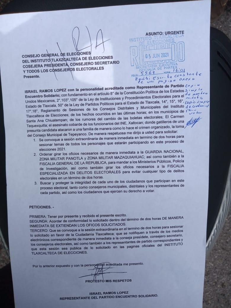 Ignoran consejeros del ITE a representantes de Yauhquemehcan