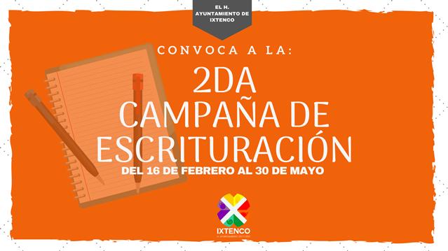 Convoca Ixtenco a segunda campaña de regularización de escrituras