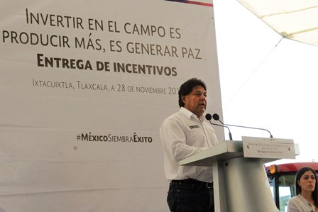 Destaca Tomás Vásquez apoyos al campo tlaxcalteca