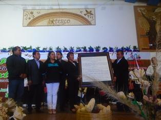 Oficializan entrega del decreto para la salvaguardia del Patrimonio Cultural Inmaterial de Ixtenco