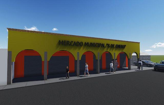 Inicia la remodelación de la fachada del Mercado Municipal de Ixtenco